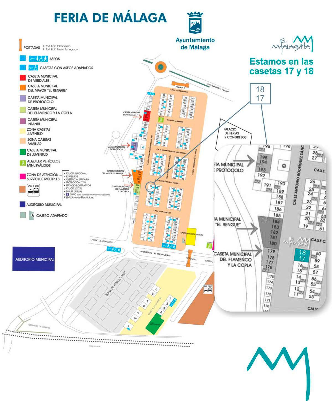 Plano caseta El Malaguita Feria Málaga 2018